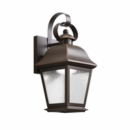 Kichler 9707OZLED Mount Vernon Traditional Olde Bronze Finish 5.5  Wide LED Exterior Lamp Sconce