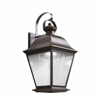 Kichler 9709OZLED Mount Vernon Traditional Olde Bronze Finish 9.5  Wide LED Exterior Wall Light Fixture
