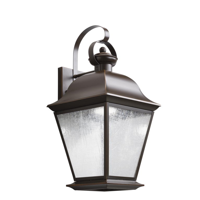 Kichler 9709ozled Mount Vernon Traditional Olde Bronze Finish 9 5 Wide Led Exterior Wall Light