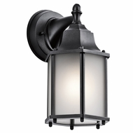 Kichler 9774BKS Chesapeake Black Exterior Wall Lighting Sconce