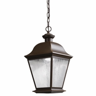 Kichler 9809OZLED Mount Vernon Traditional Olde Bronze Finish 18.5  Tall LED Outdoor Ceiling Pendant Light