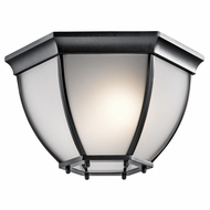 Kichler 9886BKS Black Exterior Flush Mount Lighting