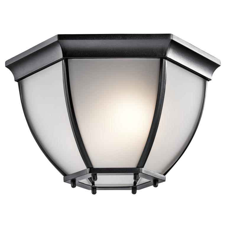 Kichler 9886BKS Black Exterior Flush Mount Lighting - KIC-9886BKS
