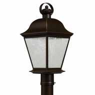 Kichler 9909OZLED Mount Vernon Traditional Olde Bronze Finish 9.5  Wide LED Exterior Pole Lighting Fixture