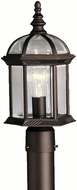 Kichler 9935BKL16 Barrie Traditional Black LED Exterior Post Lighting