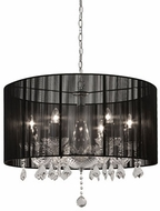 Kuzco 38256B Chrome Drum Pendant Lighting Fixture