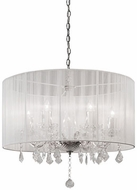 Kuzco 38256W Chrome Drum Hanging Pendant Lighting