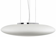 Kuzco 401187CH-LED Contemporary Chrome LED 24  Pendant Hanging Light