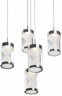 Kuzco 402105CH-LED Contemporary Chrome LED Multi Pendant Light