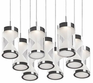 Kuzco 402109CH-LED Contemporary Chrome LED Multi Pendant Lamp