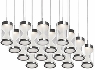 Kuzco 402116CH-LED Modern Chrome LED Multi Pendant Light Fixture