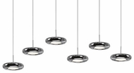 Kuzco 402206CH-LED Contemporary Chrome LED Multi Hanging Light Fixture
