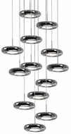 Kuzco 402213CH-LED Modern Chrome LED Multi Ceiling Light Pendant
