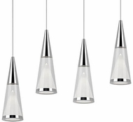 Kuzco 402404CH-LED Modern Chrome LED Multi Pendant Lighting