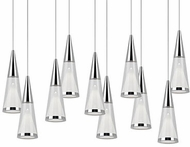 Kuzco 402410CH-LED Modern Chrome LED Multi Hanging Lamp