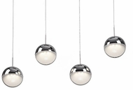 Kuzco 402804CH-LED Pluto Modern Chrome LED Multi Ceiling Light Pendant