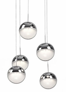 Kuzco 402805CH-LED Pluto Contemporary Chrome LED Multi Ceiling Pendant Light