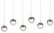 Kuzco 402806CH-LED Pluto Modern Chrome LED Multi Drop Ceiling Light Fixture