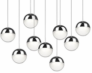 Kuzco 402809CH-LED Pluto Contemporary Chrome LED Multi Drop Lighting Fixture