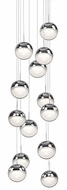 Kuzco 402813CH-LED Pluto Contemporary Chrome LED Multi Pendant Light
