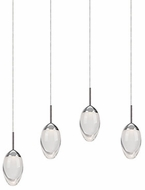 Kuzco 402904CH-LED Contemporary Chrome LED Multi Hanging Light