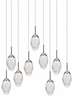 Kuzco 402909CH-LED Modern Chrome LED Multi Hanging Pendant Lighting
