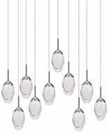 Kuzco 402910CH-LED Contemporary Chrome LED Multi Hanging Pendant Light