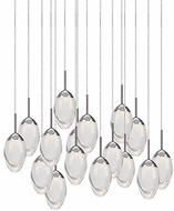 Kuzco 402916CH-LED Contemporary Chrome LED Multi Hanging Light Fixture