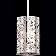 Kuzco 410102 Modern Chrome Halogen Mini Drum Hanging Lamp