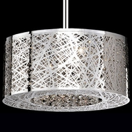 Kuzco 410106 Contemporary Chrome Halogen 16  Drum Hanging Light
