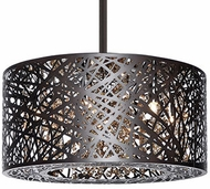Kuzco 410106BZ Contemporary Bronze Halogen 16  Drum Ceiling Pendant Light