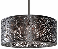 Kuzco 410108BZ Modern Bronze Halogen 20  Drum Drop Ceiling Light Fixture