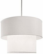 Kuzco 41084W Brushed Nickel Drum Pendant Lamp