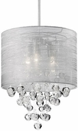 Kuzco 42153 Chrome Drum Pendant Light