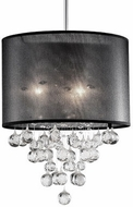 Kuzco 42153B Chrome Drum Hanging Light