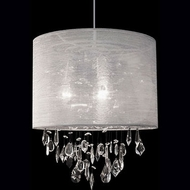 Kuzco 42153C Chrome Drum Pendant Light Fixture