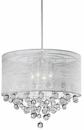 Kuzco 42154 Chrome Drum Lighting Pendant