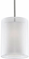 Kuzco 42331W Contemporary Brushed Nickel Drum Hanging Light Fixture