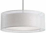 Kuzco 42333W Contemporary Brushed Nickel 20  Drum Ceiling Pendant Light