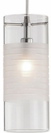 Kuzco 459201CBN Contemporary Brushed Nickel Halogen Mini Pendant Light Fixture