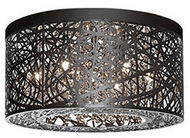 Kuzco 510106BZ Bronze Halogen 16  Flush Mount Light Fixture