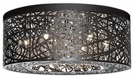 Kuzco 510108BZ Bronze Halogen 20  Flush Mount Lighting Fixture