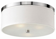 Kuzco 510803BN Brushed Nickel 20  Flush Mount Ceiling Light Fixture