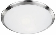 Kuzco 51562BN Contemporary Brushed Nickel 15  Overhead Lighting Fixture