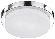 Kuzco 52012CH Modern Chrome 13  Flush Mount Lighting