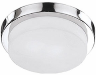 Kuzco 52012SCH Contemporary Chrome 11  Flush Mount Lighting Fixture