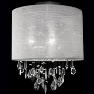 Kuzco 52152C Chrome Flush Mount Light Fixture