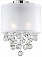 Kuzco 52152W Chrome Flush Mount Lighting Fixture