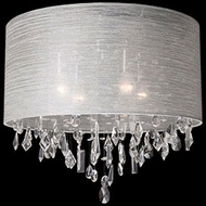 Kuzco 52154C Chrome Flush Mount Ceiling Light Fixture