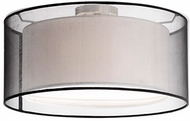 Kuzco 52332B Contemporary Brushed Nickel 15  Ceiling Light Fixture